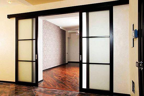 Установка межкомнатных раздвижных дверей самостоятельно